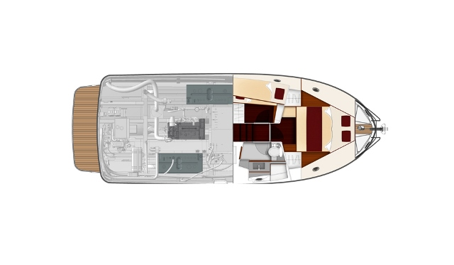 Motorboat Swift Trawler 34 - Powerboat Beneteau USA